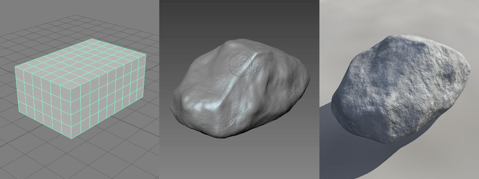 Modeling a rock