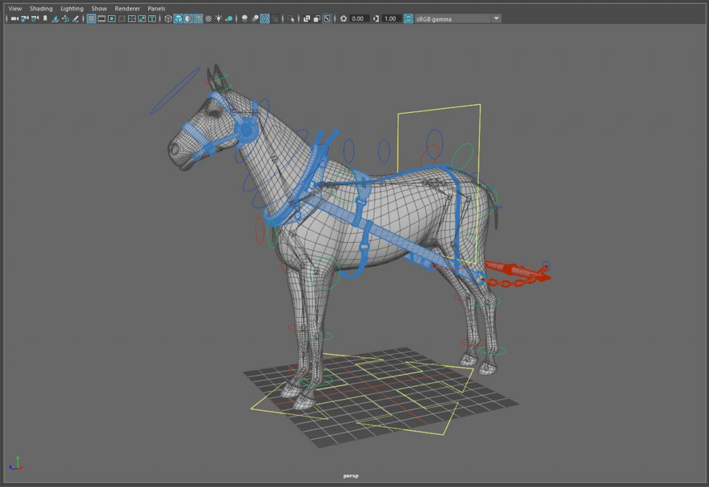 Horse and Harness Model