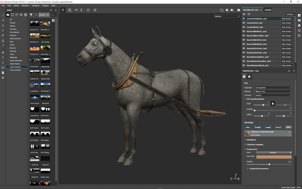 Horse Model Shading