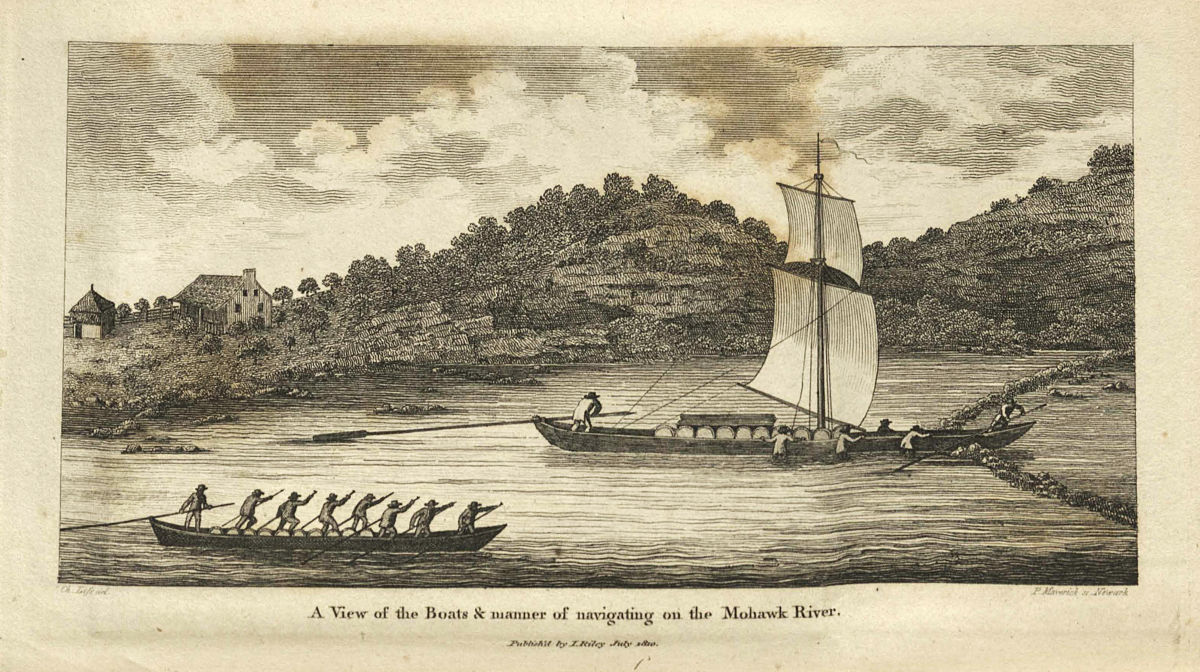 Durham boat on the Mohawk River
