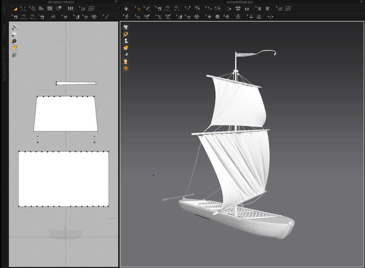 Durham boat sails