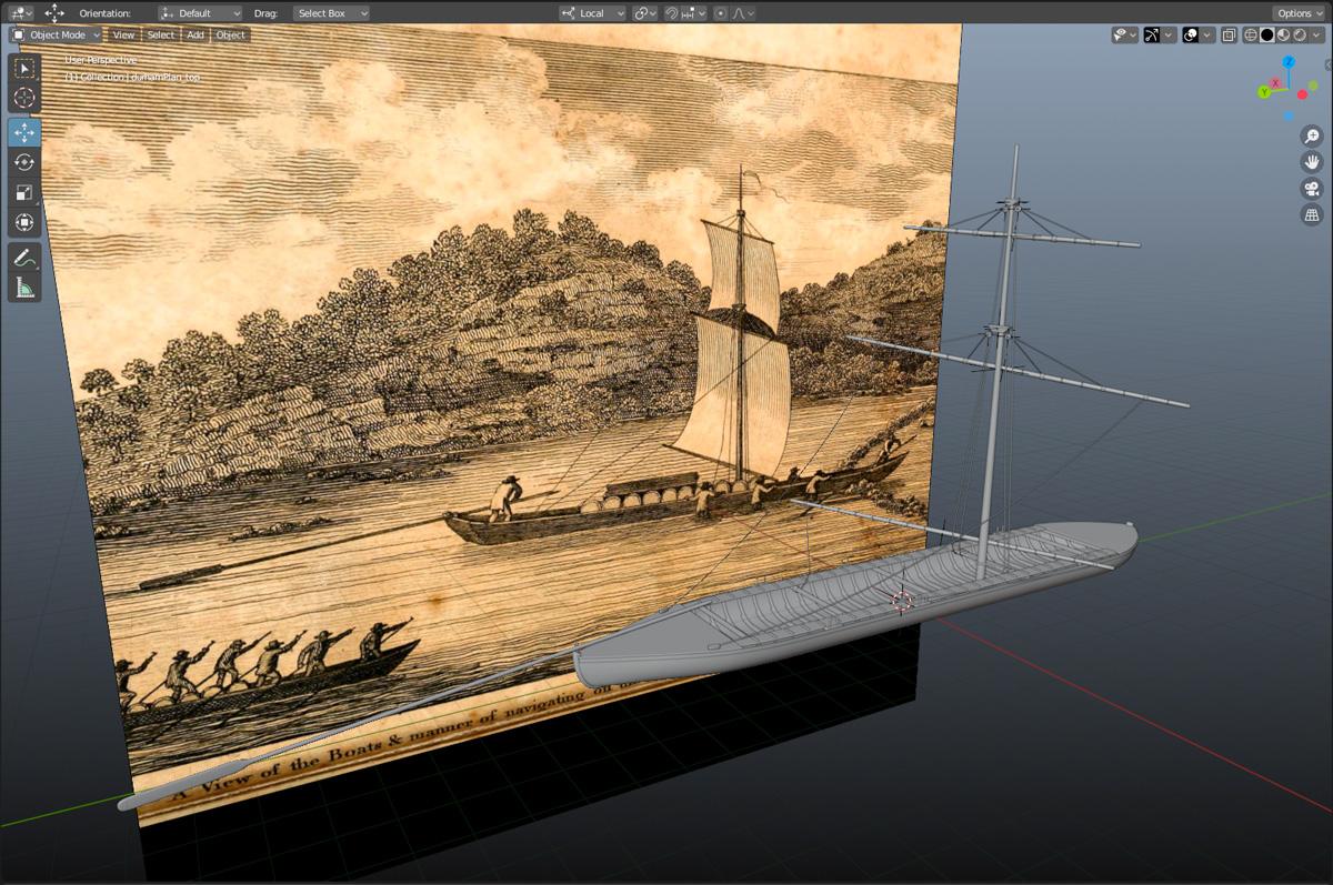 Durham boat mast