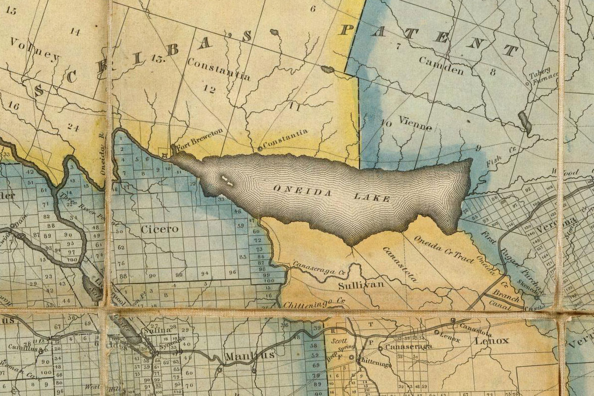 Map of Oneida Lake