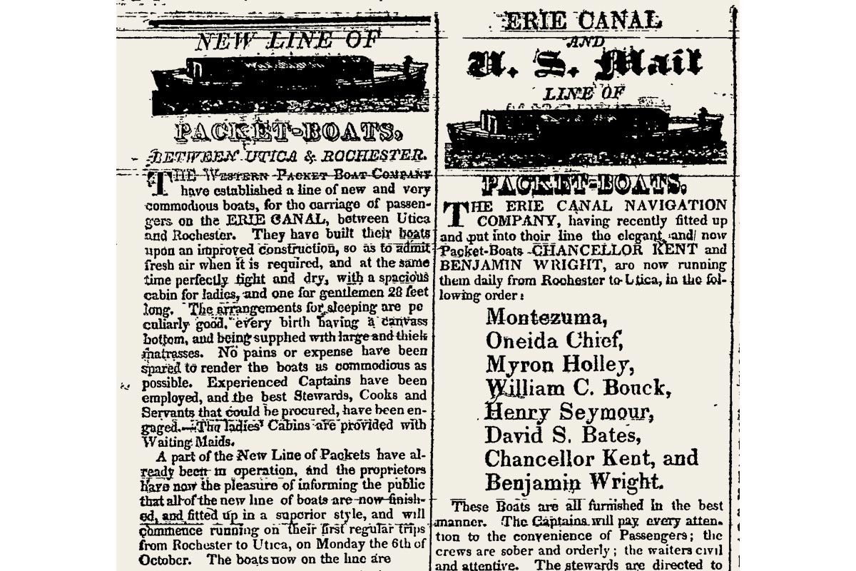 Packet Boat Advertisement