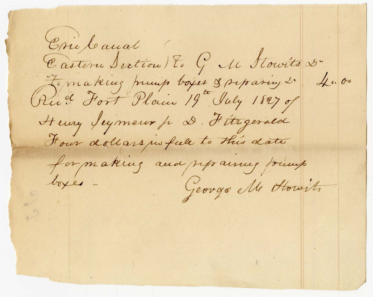 Receipt to George M. Stowits