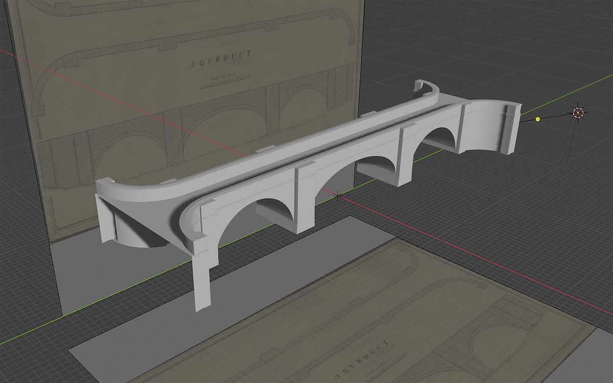 Aqueduct in Blender