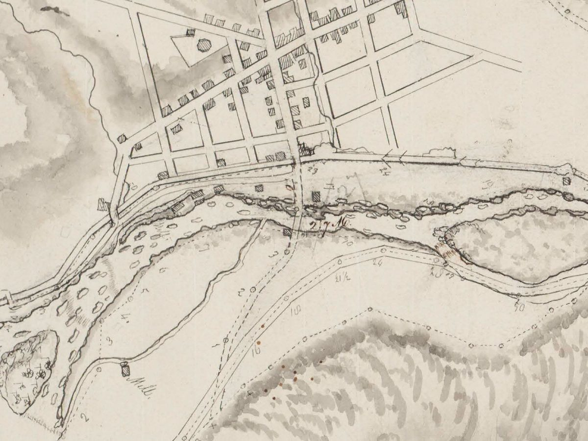Isaac Briggs map of Little Falls